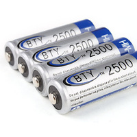 12PCS / PACK High Quanlity  BTY Ni-MH AA Rechargeable Battery (1.2v, 2500 mAh)