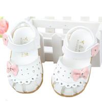 Baby Girls sandals,Summer children sandals for girl  flower cowhells bottom Kids genuine leather princess shoes baby sandals