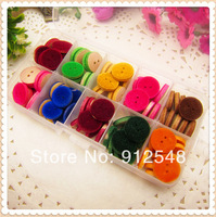 8 color mix , 80 pcs 15mm Wood flocking wood button wholesale Children's clothes button accessories handmade art,WLF41