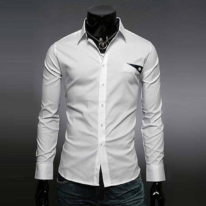 новые моды Мужские рубашки, классический бизнес,