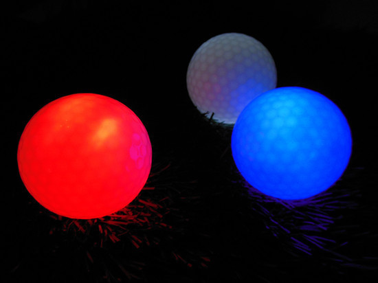 Free Shipping Golf ball with LED Golf Night Training Ball LED electronic Golf ball(China (Mainland))
