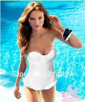 2014 New Arrival Wholesales Lady Falbala Tankini Women Swimwear Holiday Bikini Sexy Beach Swim Wear Swimsuits Beachwear Bathers