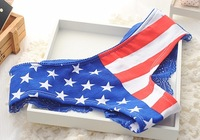 5pcs/lot Flag Underwear Sexy America USA Panties Sexy Lace Fashion Best Quality Victorias Panty Underwear lady's Panties