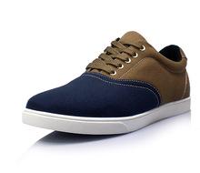 2014 spring plus size shoes canvas shoes color block decoration fashion Large male 45 46 47 48 49 50(China (Mainland))
