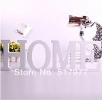 Free Shipping Standing Wooden Letter White Colour Alphabet A-Z Wedding Gift Decorative Cafe Decor Size 8*6*1.2cm 4pcs/lot