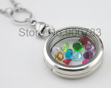higher quality 5mm birthstone floating charms Cupid stone February charms