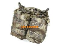 TMC Tactical Gear Double Open Top Magazine Pouch In Kryptek Mandrake+Free shipping(SKU12050284)