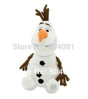 "Free Shipping 1pcs/ lot 2014 hot sale Anime Frozen cute OLAF the Snowman Plush Doll Stuffed Toy big size 12"" 30cm Good quality"