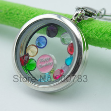 Higher quality 5mm rhinestone floating locket charms Cupid stone April charms