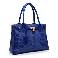 2014 crocodile pattern handbag women's handbag elegant white collar Business female bag embossed red bridal bag