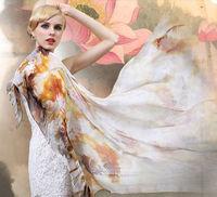 [Silk Chiffon Scarf]50cm*170cm long Scarves/100% Natural Mulberry Silk/Spring 2014 New/Fashion Thin Chiffon Fabric