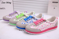 Retail free shipping New fashion 2014 spring autumn casual lacing low canvas women's sports flat single shoes Size:6 - 8