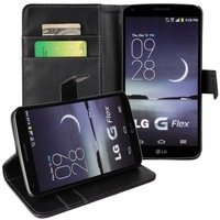 10pcs/lot Free Shipping plain PU Wallet Leather Case with stand For LG G Flex D958