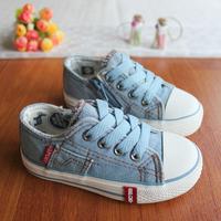 2013 autumn denim high child canvas shoes fashion sneakers boys shoes for girls children shoes kids