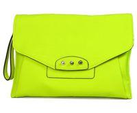 2014 Designer American Style Women Clutch Bag Purse Fluorescent Green Envelope Clutch Women Handbag Purses Bag Day Clutches 004