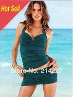 Wholesale Solid Color Europe Style Camisole Tankini Women Swimwear Bikini Sexy Beach Swim Wear Swimsuits Beachwear Bathers