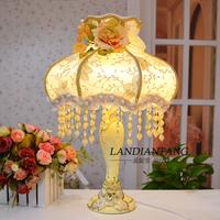 Fashion luxury royal elegant lamp vintage elegant marry bedside romantic lace princess rustic