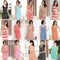 20style 2014 women's new fashion summer Dress Circle wave Casual dress for women