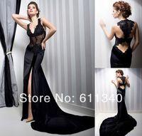 Hot Sale Sexy Black Wedding Dress Bridal Gown Evening Dress Custom Size 6-8-10-12-14-16-18 ++++++