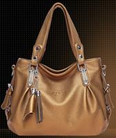 PROMOTION! 2014 NEW Women's handbag Shoulder handbag Tassel hanbag Tote bag Genuine leather