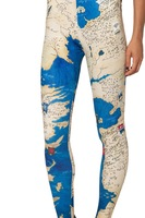 RESUN KNITTING galaxy style 2014 digital print fashion blue world map sexy legging Free shipping