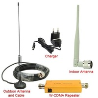 Up to 500 Square Meter WCDMA 2100MHz 3G RF Repater Mobile Phone Signal Booster Amplifer Repeater Set DHL Free Shipping