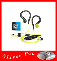 Free Shipping 3.5MM Wired Omx680 OMX 680 Ear Hook Earphones For Mp3 Mp4 Mobile Phone Sports Headphones With Volume control