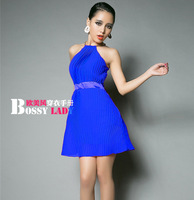 8115 2014 sexy halter-neck strapless slim waist one-piece dress