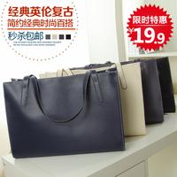 Female bags 2014 fashion vintage big bag casual all-match black women handbag shoulder bag women clutch women leather handbags