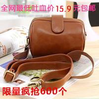 2014 vintage brown mobile phone camera coin purse small bag women's handbag day clutch bag messenger bag
