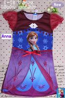 Pre sale 2014 New Frozen dress Princess ANNA girl clothes dresses Sets sofia Kids Spring Summer Clothing set 5 sizes/lot