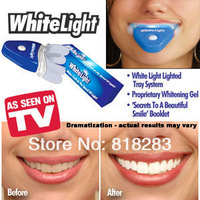 Free shipping New white light teeth whitening kit system gel whitener lamp contain tray device for dental treatment