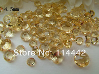 Free Shipping ! 10000 pcs / lot Gold 4.5mm 1/3 Carat Acrylic Crystal Dimond Confetti Wedding Party Decoration