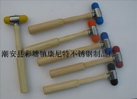 Wooden handle percussion hammer