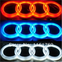 B&Q car logo light for 4D Lancer Lioncei car badge lightings auto led light auto emblem led lamp Cold light Q5 Q3 18cm X 5.8cm(China (Mainland))