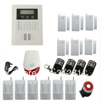 Wireless GSM  PSTN Dual Network  Security Home Alarm System With LCD Display Quad-Band  Use for World