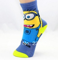 Genuine sox despicable me 2 minion socks cute cartoon socks for women cartoon tube winter socks women kids chidren free shipping