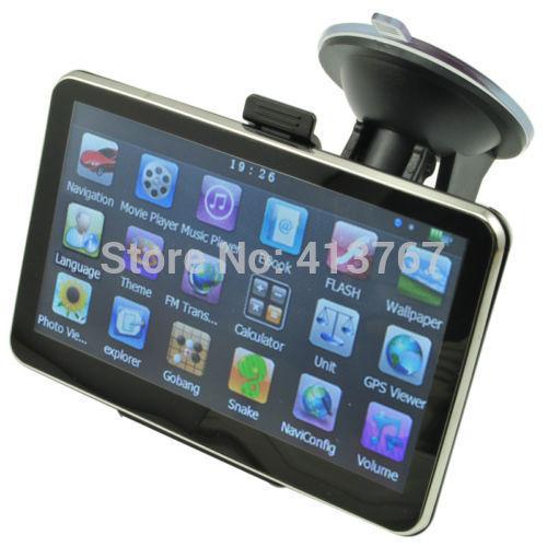5 Inch Auto Car GPS Navigation Sat Nav 4GB 2014 New Map WinCE 6.0 FM Multi-languages(China (Mainland))