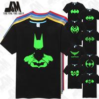 Batman T Shirt Men's T-shirt Cool Men Luminous Tshirt