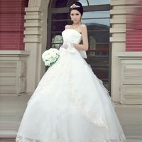 The bride wedding dress princess 2014 hunsha bride wedding formal dress cheongsam 1239