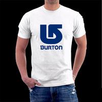 Casual Men Brand T-shirts BURTON Pure Cotton Short Sleeve Women T-shirt  Free Shipping classic t shirt