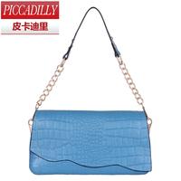 2014 spring genuine leather chain bag ol fashion cowhide crocodile pattern one shoulder handbag women's handbag