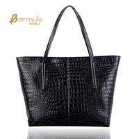 Female shoulder bag big bag fashion brief fashion cowhide women's handbag vintage shopping bag casual