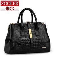 Ol elegant crocodile pattern handbag women's bag genuine leather bag shoulder handbag fashion cross-body bag
