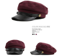 Free shipping Korean version of the skin along the flat cap navy hat cap child