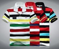 new fashion Summer Shark men 100%cotton Stripe short sleeve t-shirt M L XL XXL XXXL