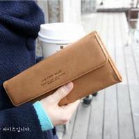 New 2014 Vintage Women's Fashion Slim Wallet PU Leather Long Designer Wallet Brown Red Card Holder wallet Free Shipping