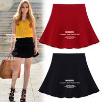 new 2014 summer casual zipper short skirt solid color chiffon mini pleated skirt S M L XL high waist tulle women skirts shorts