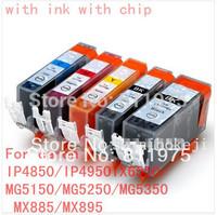 15pcs Free shipping PGI 525 CLI 526  ink cartridge For canon PIXMA IP4850/IP4950 IX6550 MG5150/MG5250/MG5350 MX715/MX885/MX895
