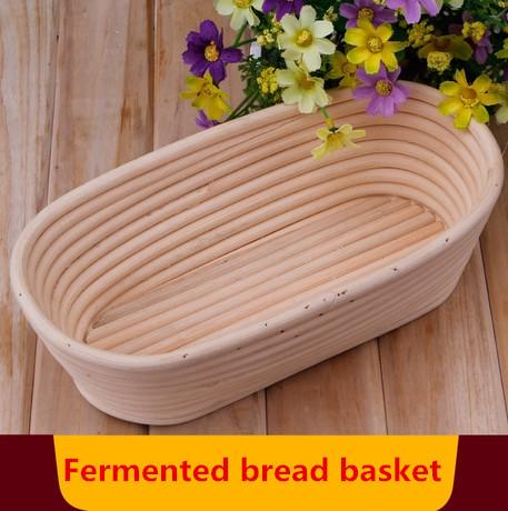 Big Size 25cmOval Banneton Brotform Bread Proofing Proving Rattan Basket Proof Basket Cesta de pan de pruebas cooking tools(China (Mainland))